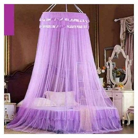 Round Mosquito Net purple Free size