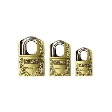 Top Anti-Burglar Security Padlock with 3 Keys Gold Medium