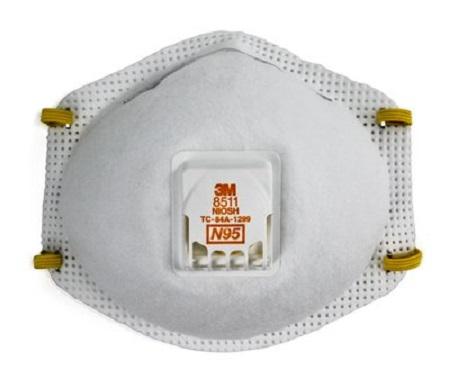 3M 8511 Particulate Respirator 8511, N95 - US Standard NIOSH
