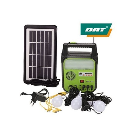 Dat AT-9012B Household Solar Panel System With MP3 Radio