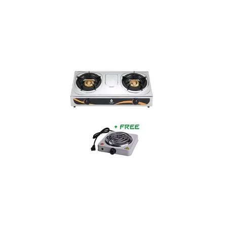 Nunix 2 Burner Cooking Stove+ Free Hot Plate