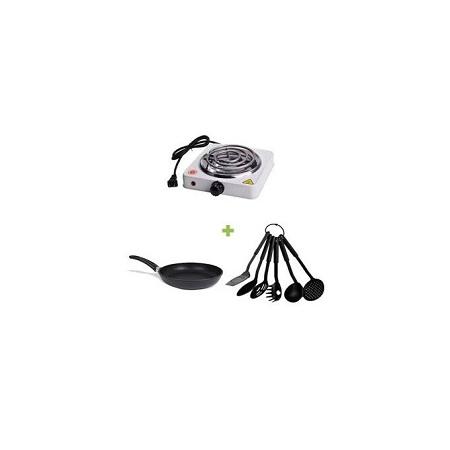 Generic Single Spiral Hot Plate + Pan+ Free Spoons