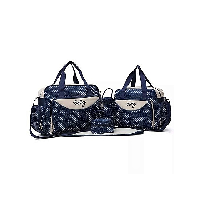 Generic Liberty Powers Generic Navy blue With White Polka Dots 5 In 1 Diaper Bag With Changing mat