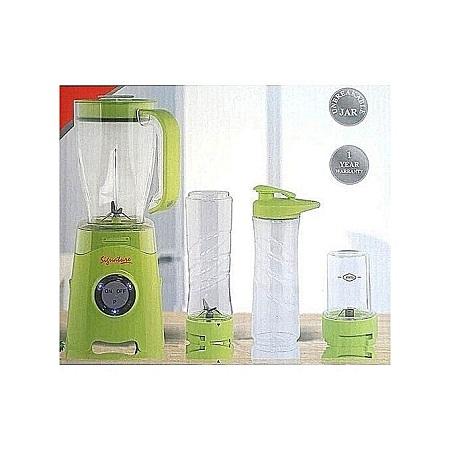 Signature 4 in 1 Blender with Grinder Can Crush Ice, Grind Baby Supplements 1.25L