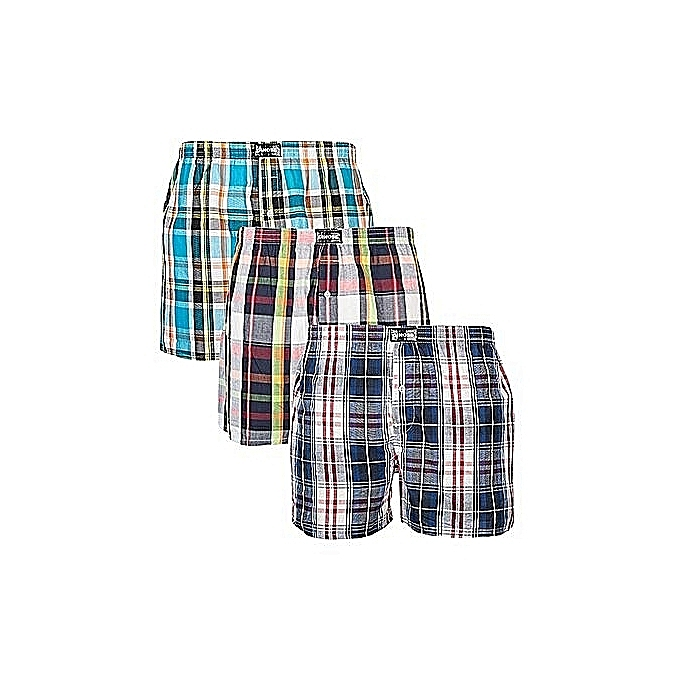 3 In 1 Pure Cotton Same Size Soft Boxers-Color May Vary
