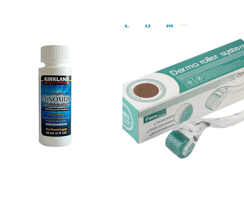 Minoxidil 5% Extra Strength Hair Regrowth + Real Needles 192 DRS 0.5mm