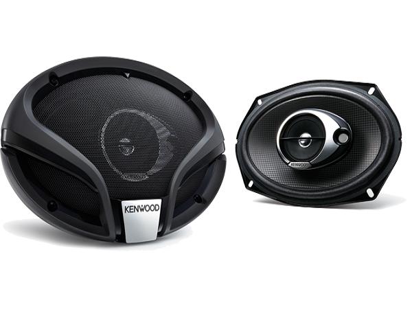 Kenwood KFCM6934A 360W 6 x 9 Inch 3 Way Car Speaker.