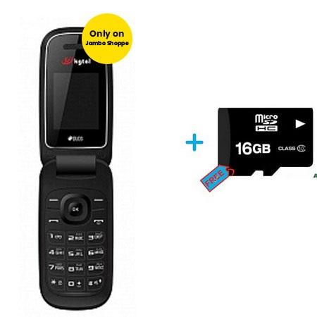 Kgtel E1272 Mobile Phone Dual Sim 32MB 2G Flip Phone - 800Mah + Free 16gb Memory Card