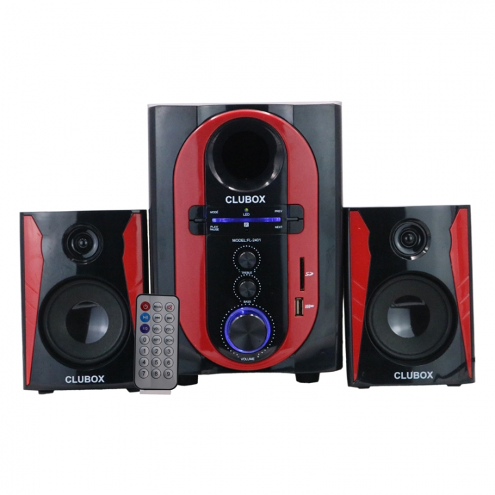 CLUBOX-2401 Woofer 2.1 Ch Multimedia subwoofer Speaker System  black 25w