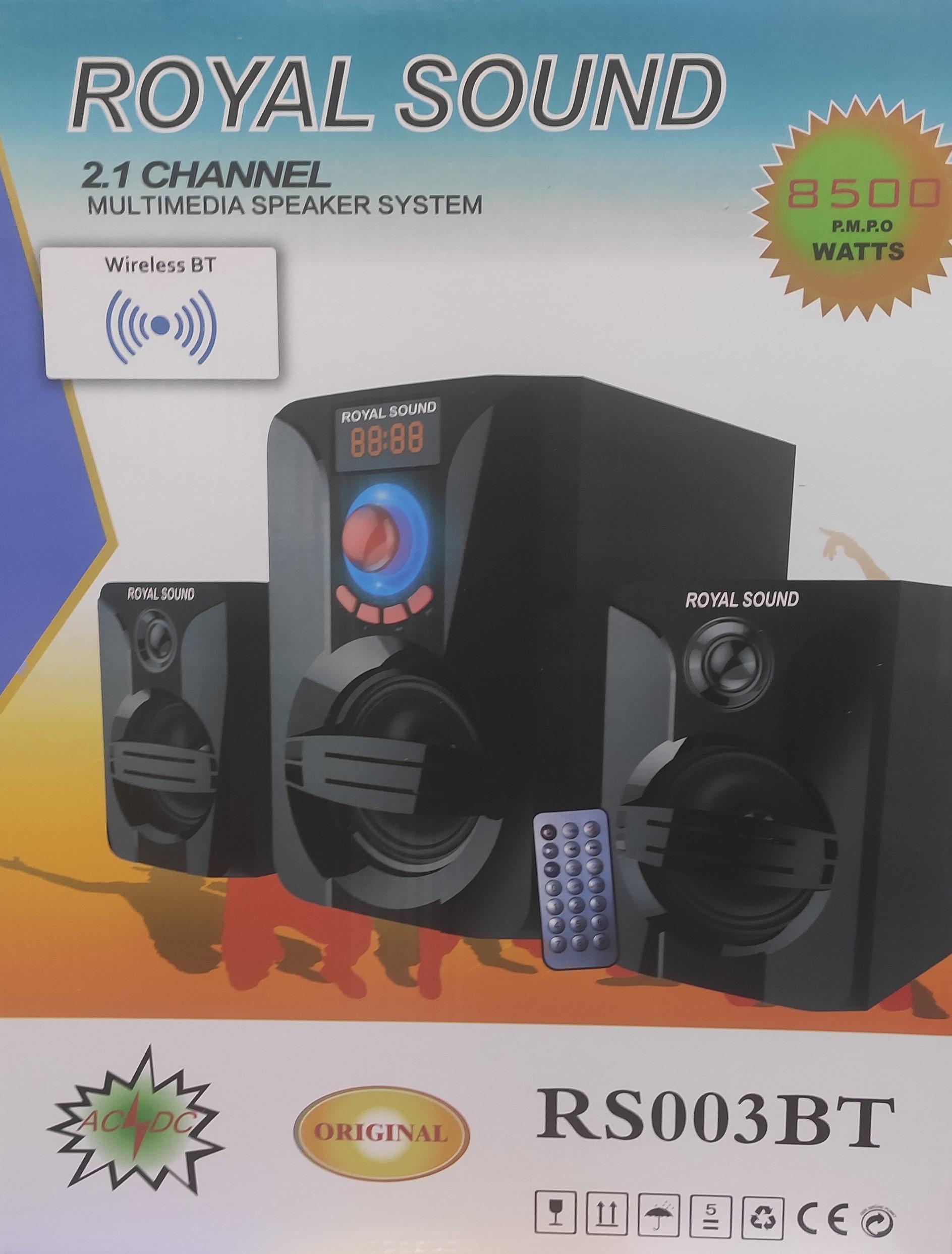 Royal sound RS003BT 8500W P.M.P.O Subwoofer speaker system