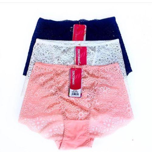 Fashion 4PCs Breathtaking Mesh Lace Floral Lace Panties