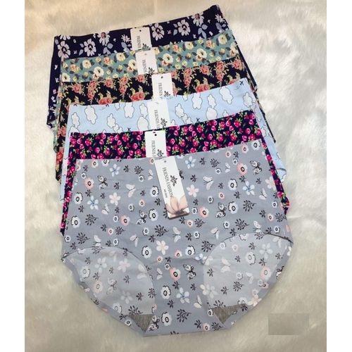 Fashion 6 pieces Seamless Floral Cotton Bikini Women Panties-M