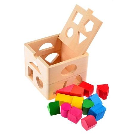 Wooden Building Blocks 13 holes shape sorter