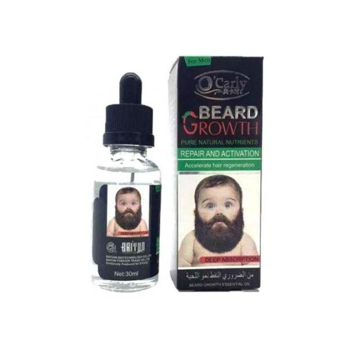 Beard Growth Oil For Fast Growth - Moustache,Facial & Body Hair