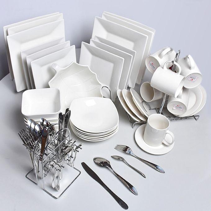 Ceramic square  Dinner Set - 63 Pieces