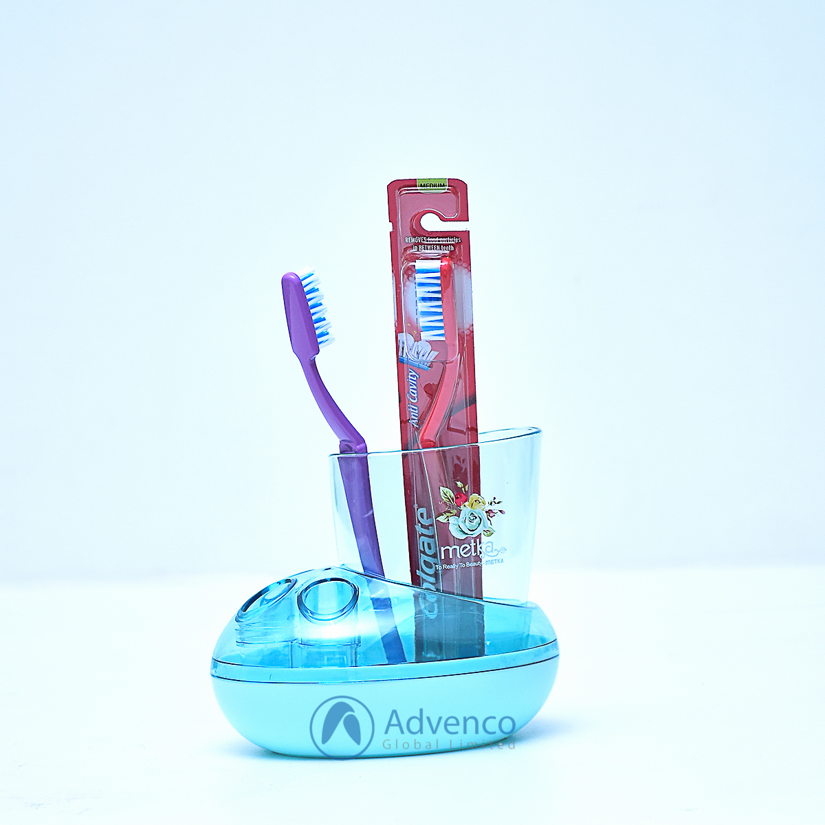 Toothbrush Holder 3 Holes Blue