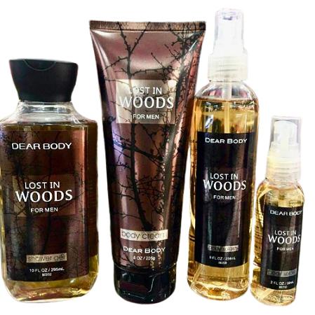 Dear Body Lost in the Woods 4 in 1 Mens Fragrance Set