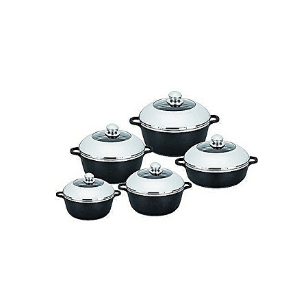 Dessini Dessini Non-Stick Cooking Pots Cookware Set – 10pcs.