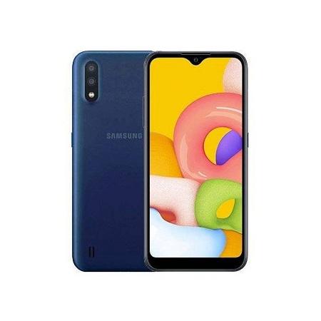 Samsung Galaxy M01, 5.7 Inch, 32GB + 3GB RAM (Dual SIM), 400mAh, Blue
