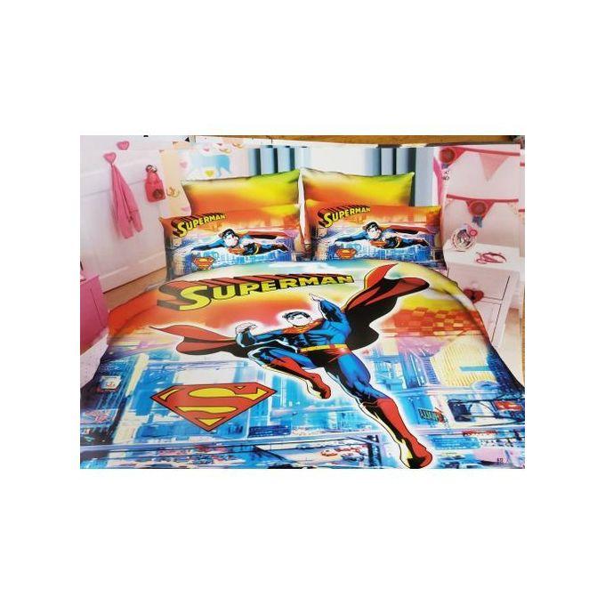 4*6 Kids Cartoon Themed Duvets ( SUPERMAN)- Multicolored