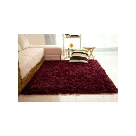 Generic Fluffy Carpets 5 by 8 maroon