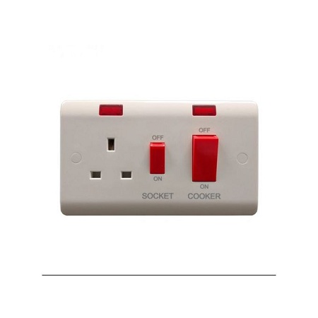Generic 45A DP Cooker control switch socket