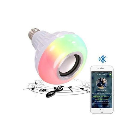 Generic Bluetooth Music LED Bulb Multi color Speaker with Flash Disk