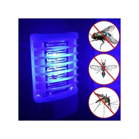 Generic Photocatalyst Mosquito UV Lamp Quiet Bug Insect Killer Light LED Night-random