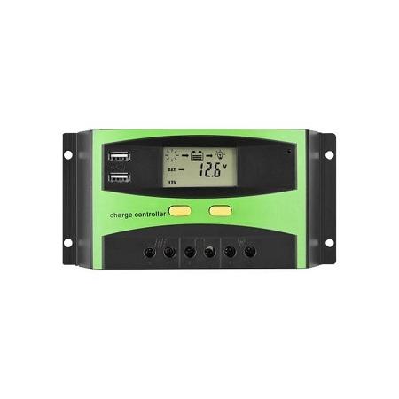 Solarmax 20A Digital Solar Charger Controller Dual USB