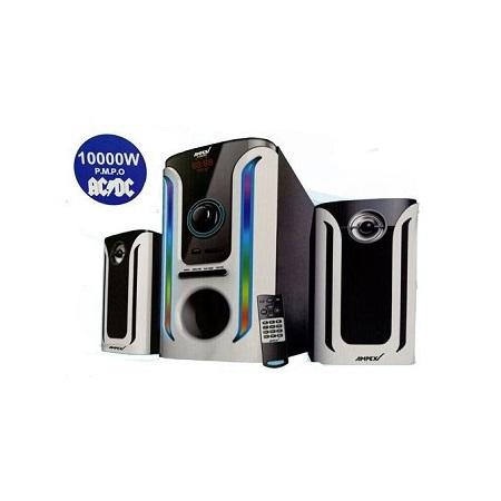 Ampex AX602MS- 2.1CH- SOUND SYSTEM WOOFER- 10000W - Aux/FM ready-Wireless BT - BLACK