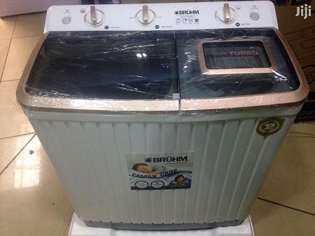 Bruhm BWT-070H Twin Tub Washing Machine - 7kg