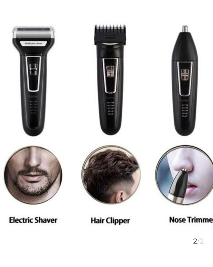 3 In 1 Geemy Rechargeable Hair And Beard Shaving Machine
