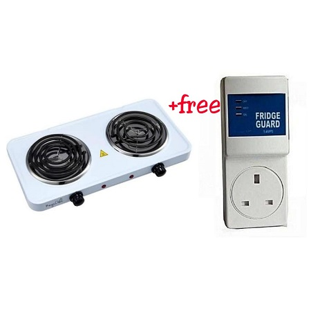 Double Electric Hot Plate and a Free Fridge Guard