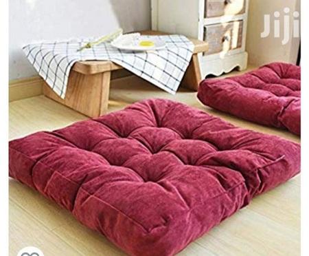 Generic Maroon Square Floor Pillow