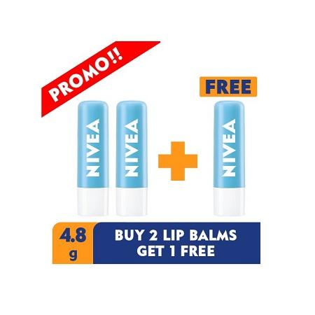 Nivea 3 For 2 Hydro Care Lip Balm - 4.8g
