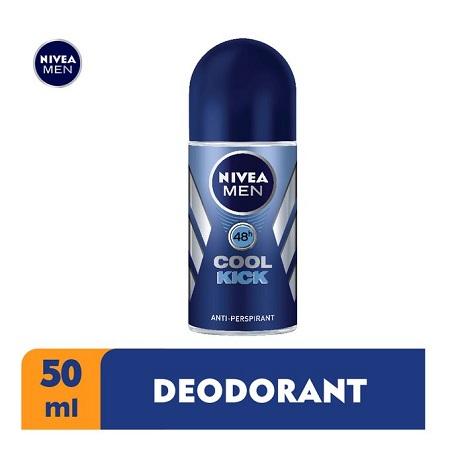 Nivea Men Cool Kick Anti-Perspirant Rollon For Men, 48h - 50ml