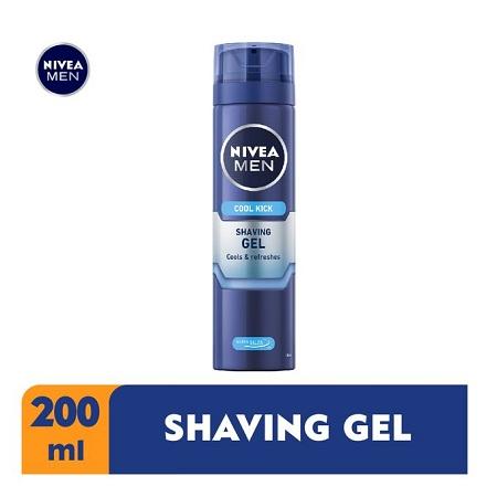 Nivea Men Cool Kick Shaving Gel For Men - 200ml