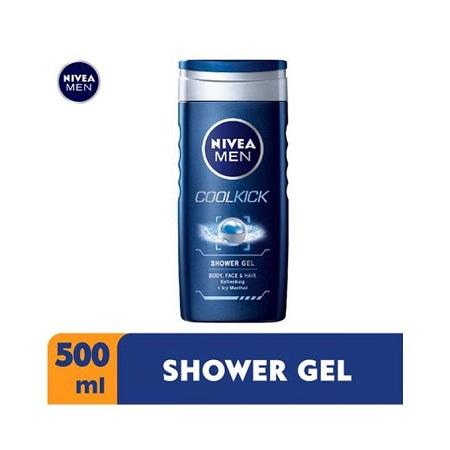 Nivea Men Cool Kick Shower Gel For Men - 500ml