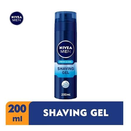 Nivea Men Fresh & Cool Shaving Gel For Men - 200ml