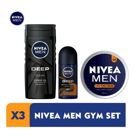 Nivea Men Home Workout Kit For Men - With Antibacterial Deodorant Rollon (Espresso)