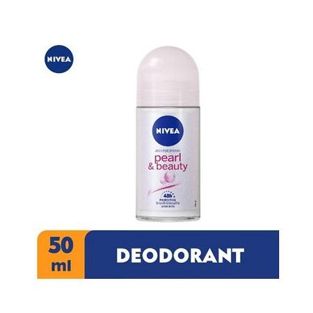 Nivea Pearl & Beauty Anti-Perspirant Rollon For Women, 48h - 50ml