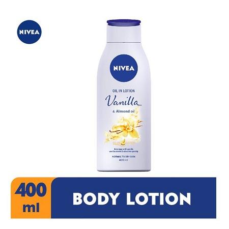 Nivea Vanilla & Almond Oil Body Lotion For Women - 400ml