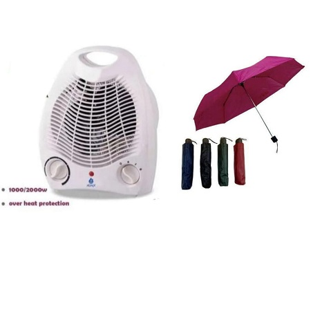 Nunix Room Heater and a free Umbrella