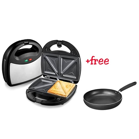 Sandwich Maker with a Free Frying Pan