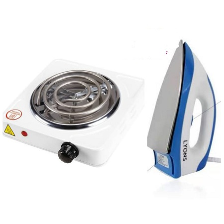 Single Electric Coil Plus a Lyons Dry Iron Box