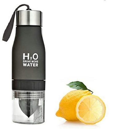 H20 Water Bottle Black 600ml
