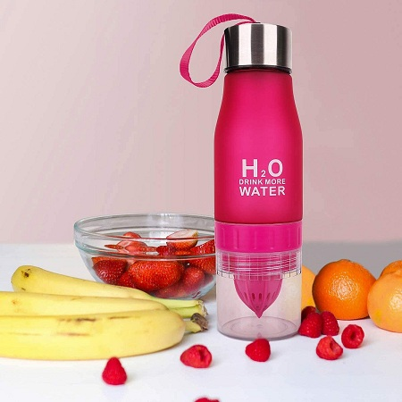 H20 Water Bottle Pink 600ml