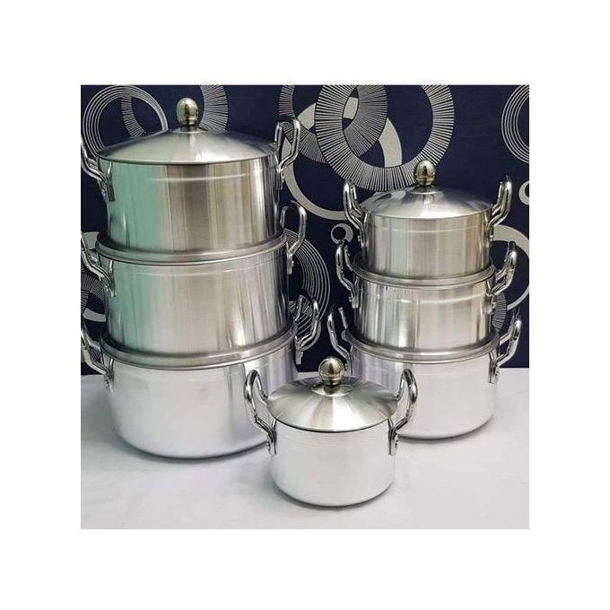 Generic 14 Pieces Heavy Aluminium Cooking Pot Sufuria Set