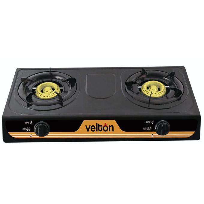 VELTON 2 Burner Heavy Duty Gas Cooker FREE 13kg Regulator & Pipe