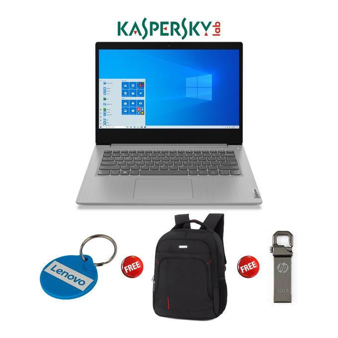 Lenovo Ideapad 3-Intel Celeron-1TB HDD-4GB RAM-Windows 10-Kaspersky-Grey+PBag+Keyholder+32GB Flash